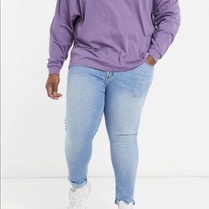ASOS Plus spray on jeans w/ power stretch (ab)